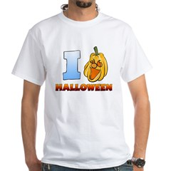 I Love Halloween White T-Shirt