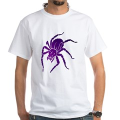 Purple Spider White T-Shirt