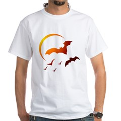 Flying Vampire Bats White T-Shirt