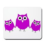 Cute Owl design Mousepad
