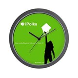 iPolka Parody Wall Clock (Green Version)