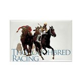 Thoroughbred Racing Rectangle Magnet (100 pack)