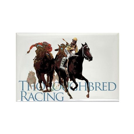 Thoroughbred Racing Rectangle Magnet (10 pack)