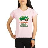 I Support Local Farmers Performance Dry T-Shirt