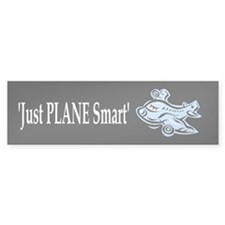 Just Plane Smart Sticker black(Bumper)