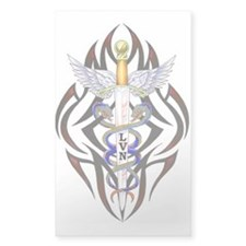 LVN Caduceus Rectangle Decal