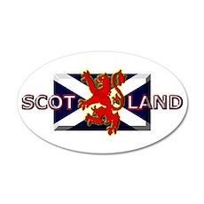 Scotland Football Fashion 22x14 Oval Wall Peel