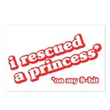 I Rescued a Princess Postcards (Package of 8)