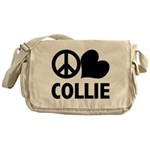 Peace Love Collie Messenger Bag