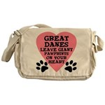 Great Dane Pawprints Messenger Bag