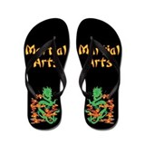 Martial Arts Smoke Fire Dragon Flip Flops