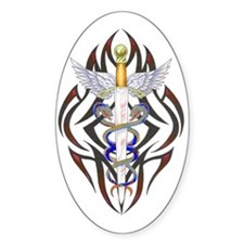 Caduceus Oval Decal