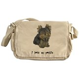 I Love My Yorkie Messenger Bag