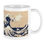 Pixel Tsunami Great Wave 8 Bit Art Mug