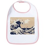 Pixel Tsunami Great Wave 8 Bit Art Bib