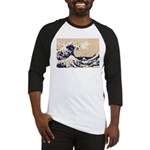 Pixel Tsunami Great Wave 8 Bit Art Baseball Jersey