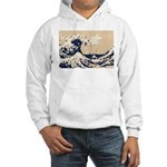 Pixel Tsunami Great Wave 8 Bit Art Hooded Sweatshi