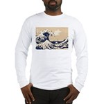 Pixel Tsunami Great Wave 8 Bit Art Long Sleeve T-S