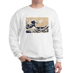 Pixel Tsunami Great Wave 8 Bit Art Sweatshirt