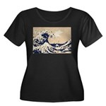 Pixel Tsunami Great Wave 8 Bit Art Women's Plus Si