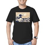 Pixel Tsunami Great Wave 8 Bit Art Men's Fitted T-