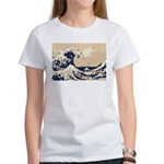 Pixel Tsunami Great Wave 8 Bit Art Women's T-Shirt