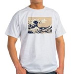 Pixel Tsunami Great Wave 8 Bit Art Light T-Shirt