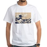 Pixel Tsunami Great Wave 8 Bit Art White T-Shirt