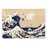 Pixel Tsunami Great Wave 8 Bit Art Large Poster