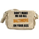 Baltimore Baseball Messenger Bag