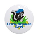 Little Stinker Levi Ornament (Round)