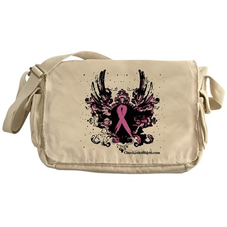 Tough Girl Breast Cancer Messenger Bag