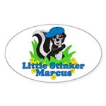 Little Stinker Marcus Sticker (Oval 10 pk)