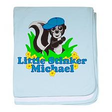 Little Stinker Michael baby blanket