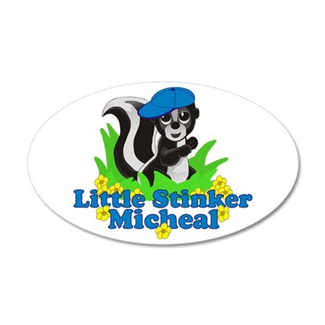 Little Stinker Micheal 38.5 x 24.5 Oval Wall Peel