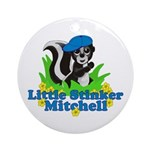 Little Stinker Mitchell Ornament (Round)