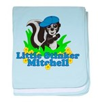 Little Stinker Mitchell baby blanket