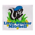 Little Stinker Mitchell Throw Blanket
