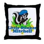 Little Stinker Mitchell Throw Pillow