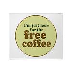 Free Coffee Throw Blanket