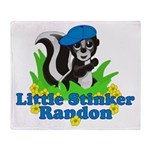 Little Stinker Randon Throw Blanket