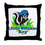 Little Stinker Ray Throw Pillow