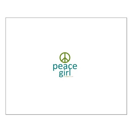 Peace Girl Small Poster