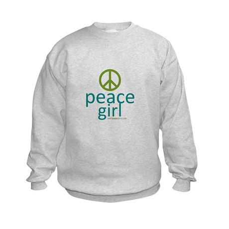 Peace Girl Kids Sweatshirt