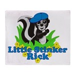 Little Stinker Rick Throw Blanket