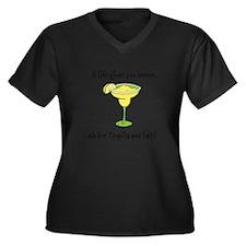 Cute Margarita Women's Plus Size V-Neck Dark T-Shirt