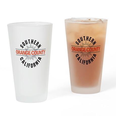 Orange County California Drinking Glass