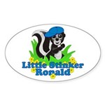 Little Stinker Ronald Sticker (Oval)