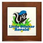 Little Stinker Ronald Framed Tile