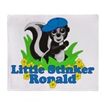 Little Stinker Ronald Throw Blanket